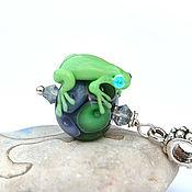 Украшения handmade. Livemaster - original item Pendant frog