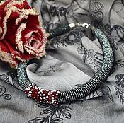 Украшения handmade. Livemaster - original item Harness necklace from beads and crystals. Handmade.