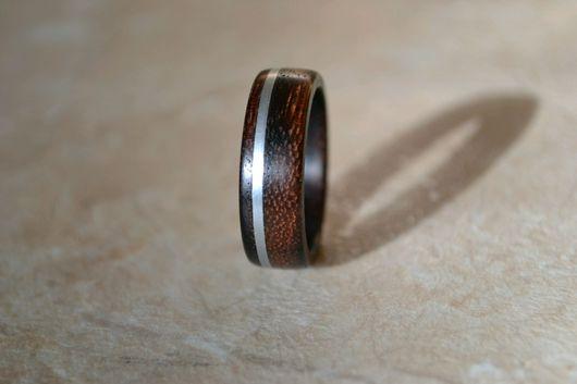 Кольца ручной работы. Ярмарка Мастеров - ручная работа. Купить Кольцо из дерева с металлом.. Handmade. Украшения ручной работы