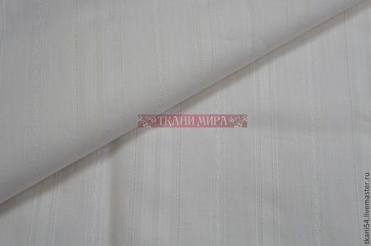 Шитье ручной работы. Ярмарка Мастеров - ручная работа. Купить Ткань сорочечная мережка, 120 см, кремовый. Handmade. Белый