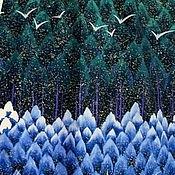 """Одежда ручной работы. Ярмарка Мастеров - ручная работа Платье из американского хлопка  """"Синие Дали"""". Handmade."""