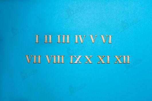 Декупаж и роспись ручной работы. Ярмарка Мастеров - ручная работа. Купить Цифры для часов римские высота 2см арт. d0090006. Handmade.