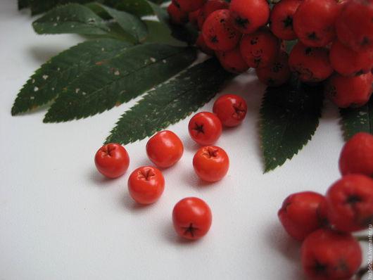 Для украшений ручной работы. Ярмарка Мастеров - ручная работа. Купить Рябина бусины ягоды. Handmade. Рыжий, бусины лэмпворк