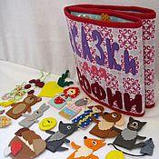 """Куклы и игрушки ручной работы. Ярмарка Мастеров - ручная работа Развивающая именная книга-папка """"Сказки"""". Handmade."""