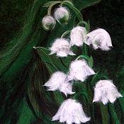 Картины и панно handmade. Livemaster - original item Breath of spring. Lilies of the valley. Handmade.