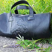 Спортивная сумка ручной работы. Ярмарка Мастеров - ручная работа Сумка спортивная из натуральной кожи Optimist. Handmade.