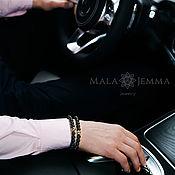 Украшения handmade. Livemaster - original item set of men`s bracelets made of black onyx. Handmade.