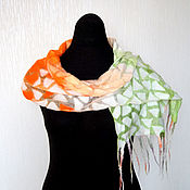 Аксессуары ручной работы. Ярмарка Мастеров - ручная работа Мозаика 11 Войлочный шарфик. Handmade.