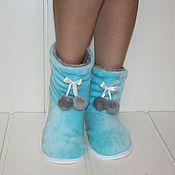 """Обувь ручной работы. Ярмарка Мастеров - ручная работа Чуники """" Голубой сад """". Handmade."""