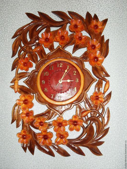 Часы для дома ручной работы. Ярмарка Мастеров - ручная работа. Купить Настенные часы ( Цветочная поляна). Handmade. Комбинированный