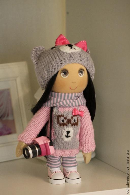 Коллекционные куклы ручной работы. Ярмарка Мастеров - ручная работа. Купить Розовый мишка. Handmade. Бледно-розовый, фотограф