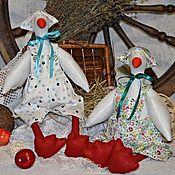 Куклы и игрушки ручной работы. Ярмарка Мастеров - ручная работа Тильда гуси текстильные, интерьерные.. Handmade.