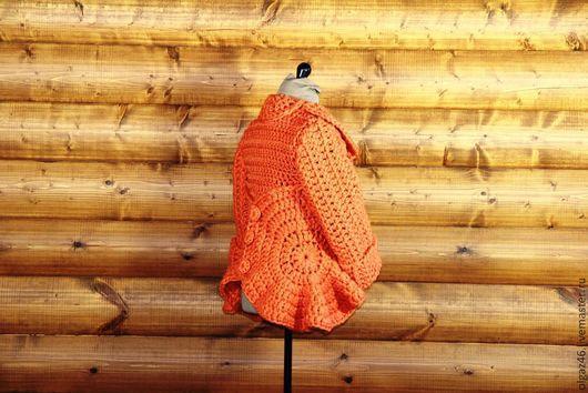"""Пиджаки, жакеты ручной работы. Ярмарка Мастеров - ручная работа. Купить Вязанный жакет """"Рыжая Медуза"""". Handmade. Рыжий"""