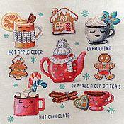 """Картины ручной работы. Ярмарка Мастеров - ручная работа """"Новогоднее чаепитие"""". Handmade."""