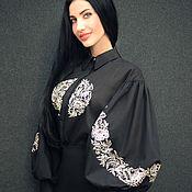 Одежда handmade. Livemaster - original item Elegant embroidered blouse Venezia womens blouse. Handmade.