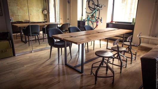Мебель ручной работы. Ярмарка Мастеров - ручная работа. Купить Стол рабочий или обеденный Iron. Handmade. Мебель на заказ