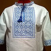 Одежда handmade. Livemaster - original item Men`s embroidered shirt MP3 63. Handmade.