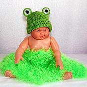 """Работы для детей, ручной работы. Ярмарка Мастеров - ручная работа шапочка для фотосессии """"Лягушка"""" (для новорожденных новорожденным). Handmade."""