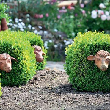 Для дома и интерьера ручной работы. Ярмарка Мастеров - ручная работа Садовая скульптура овца. Handmade.