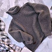 Одежда handmade. Livemaster - original item Sweater in color graphite. Handmade.