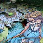 """Открытки ручной работы. Ярмарка Мастеров - ручная работа Коробочка """"Маленький Мир для Феи"""" открытка подарок голубой. Handmade."""