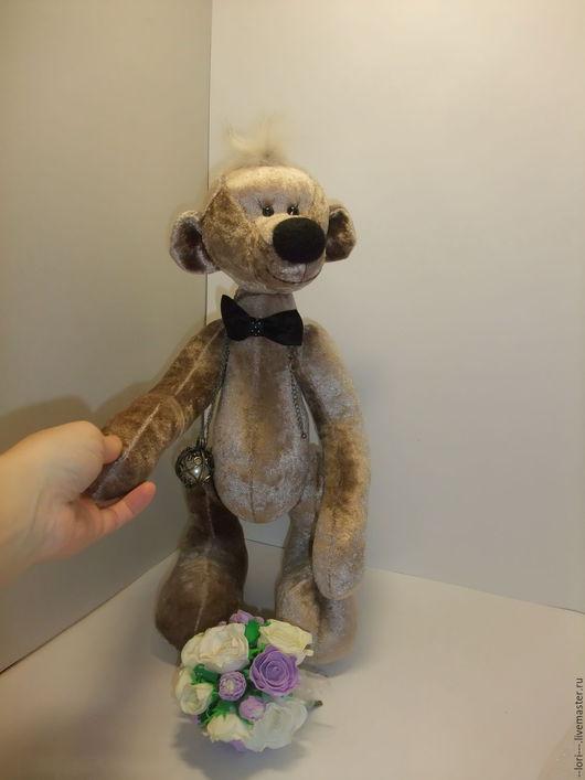 Мишки Тедди ручной работы. Ярмарка Мастеров - ручная работа. Купить Большелапый. Handmade. Коричневый, свадьба, бархат-плюш