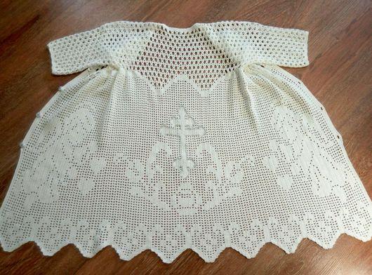 Крестильные принадлежности ручной работы. Ярмарка Мастеров - ручная работа. Купить Крестильная рубашка. Handmade. Крестильная рубашка, для крещения