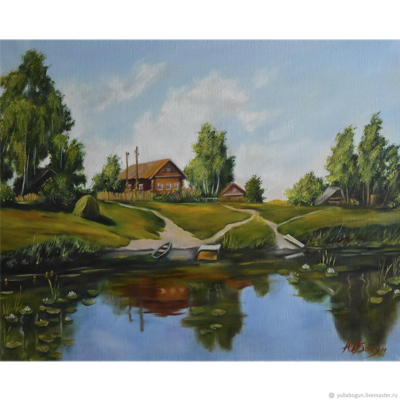 oil painting 'Rural landscape', Pictures, Belorechensk,  Фото №1