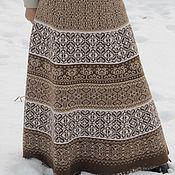 Одежда ручной работы. Ярмарка Мастеров - ручная работа Юбка вязаная  Какао. Handmade.
