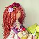 Коллекционные куклы ручной работы. Заказать Интерьерная кукла. Нина Аникина. Ярмарка Мастеров. Трикотаж для кукол, кудрявая кукла