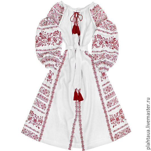 """Платья ручной работы. Ярмарка Мастеров - ручная работа. Купить Платье-вышиванка """"Тайное Желание"""". Handmade. Белый, славянский оберег"""