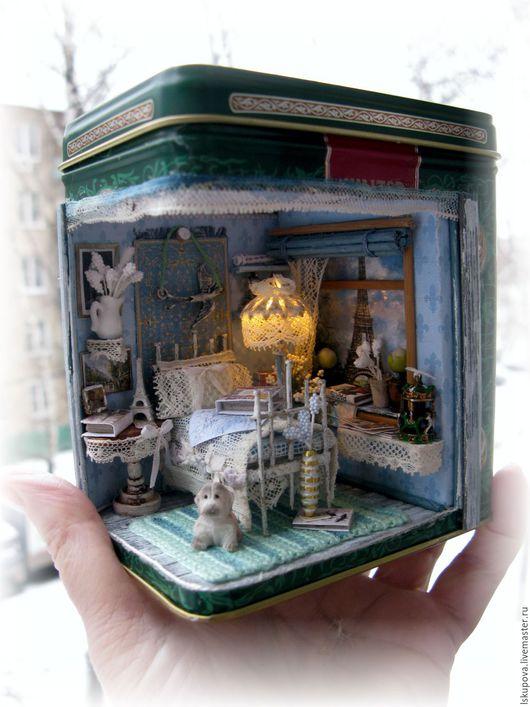 Кукольный дом ручной работы. Ярмарка Мастеров - ручная работа. Купить Утро в Париже. Handmade. Комбинированный, подарок, картон