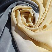 Аксессуары ручной работы. Ярмарка Мастеров - ручная работа Шелковый платок Песчаный берег, платок шелковый эко окрашивание. Handmade.