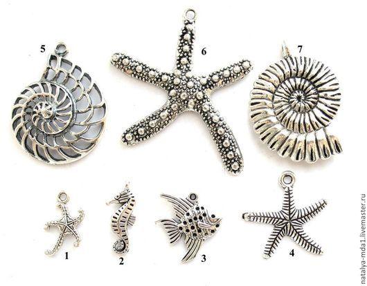 Для украшений ручной работы. Ярмарка Мастеров - ручная работа. Купить Подвески металлические античное серебро С-5. Handmade.