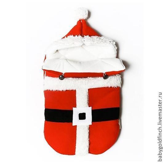 """Для новорожденных, ручной работы. Ярмарка Мастеров - ручная работа. Купить Новогодний конверт на выписку для новорожденного """"Санта"""". Handmade. Санта"""