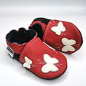 handmade. Livemaster - original item Baby Shoes Leather, Soft Sole Baby Shoes, Baby Moccasins, Girls`. Handmade.