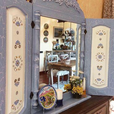 """Для дома и интерьера ручной работы. Ярмарка Мастеров - ручная работа Зеркало со ставнями """" Olives"""". Handmade."""