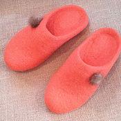 Обувь ручной работы. Ярмарка Мастеров - ручная работа тапочки Рыжики. Handmade.