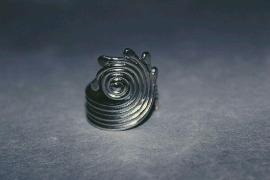 Кольца ручной работы. Ярмарка Мастеров - ручная работа. Купить Кольцо спираль. Handmade. Серебряный, кольцо ручной работы
