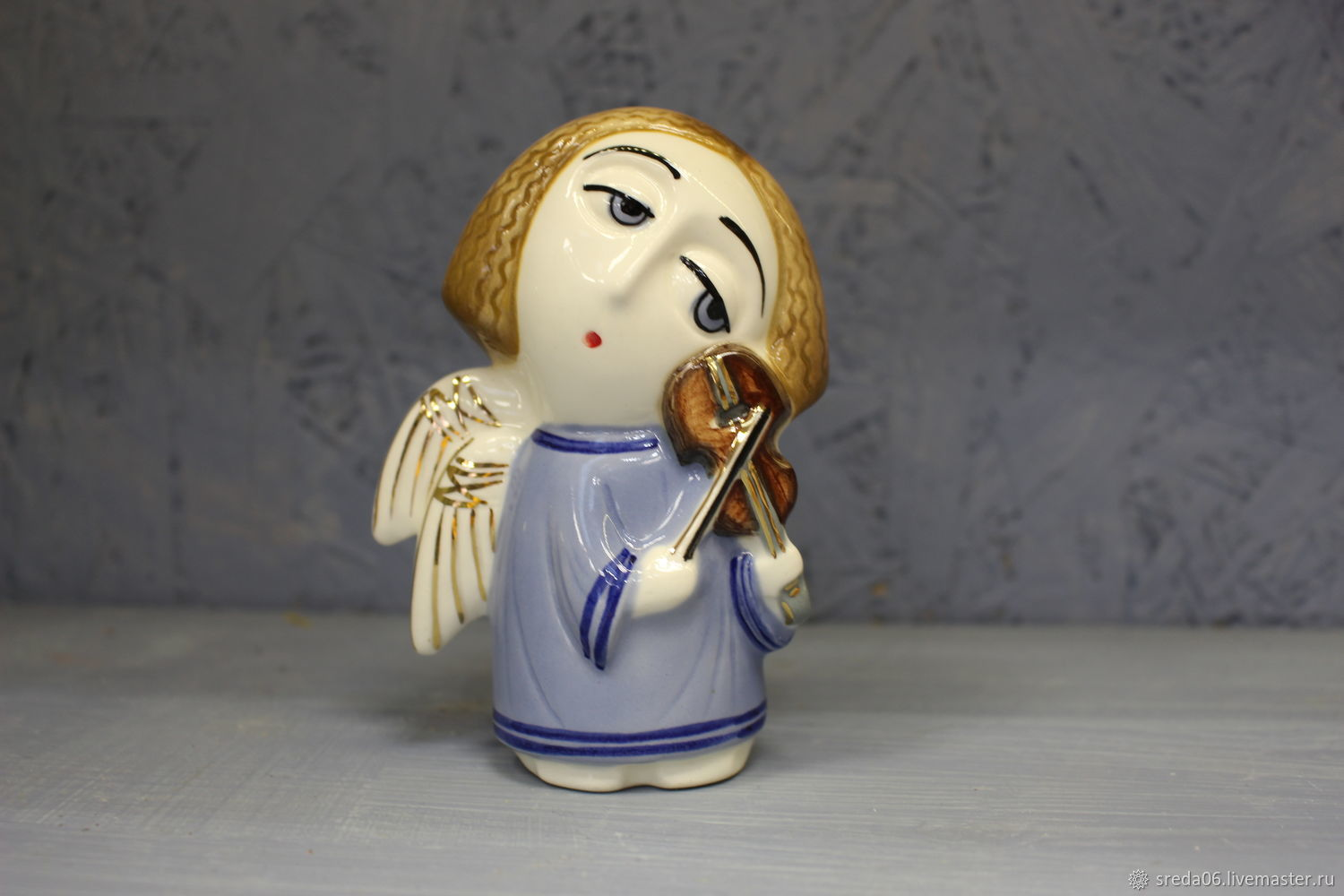 New angel-an angel with a violin, Easter souvenirs, Sergiev Posad,  Фото №1