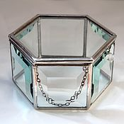 Свадебный салон handmade. Livemaster - original item Jewelry box for rings cut. Glass casket. Wedding box. Handmade.
