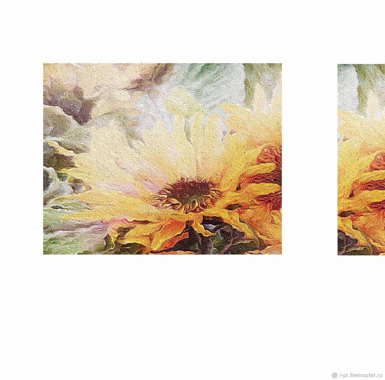 Модульные картины Подсолнухи.(цифровой файл), Картины, Волгоград,  Фото №1