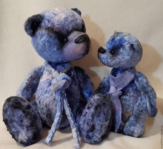 Мишки Тедди ручной работы. Ярмарка Мастеров - ручная работа. Купить Черносливки.... Handmade. Голубой, мишка в подарок, теддик, пара