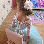 Работы для детей, ручной работы. Ярмарка Мастеров - ручная работа Нарядное платье для девочки с бабочками. Handmade.