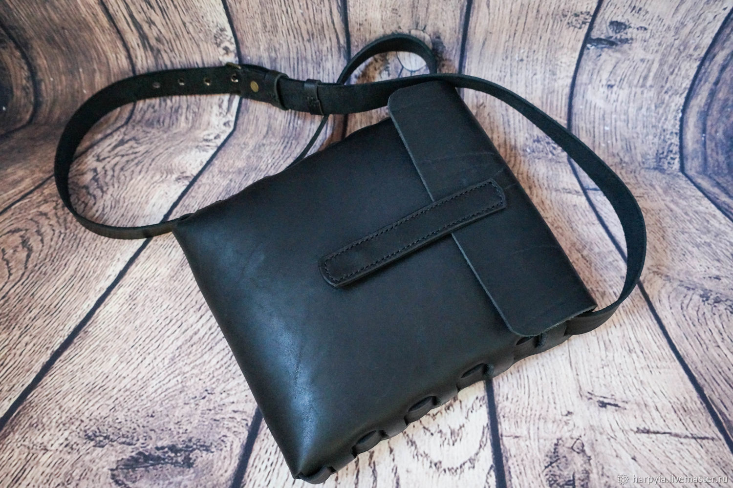 Leather bag Unisex,Handmade, Tablet bag, Moscow,  Фото №1
