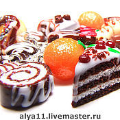 """Украшения ручной работы. Ярмарка Мастеров - ручная работа Браслет """"Шоколадный тортик"""". Handmade."""