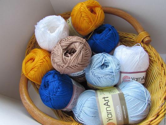 Вязание ручной работы. Ярмарка Мастеров - ручная работа. Купить Пряжа Begonia Yarn Art. Handmade. Разноцветный, хлопковая пряжа