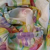Scarves handmade. Livemaster - original item The breath of Summer,a silk scarf handmade.180h70 cm. Handmade.