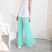 Одежда handmade. Livemaster - original item Women`s pants crochet Mint lace. Handmade.