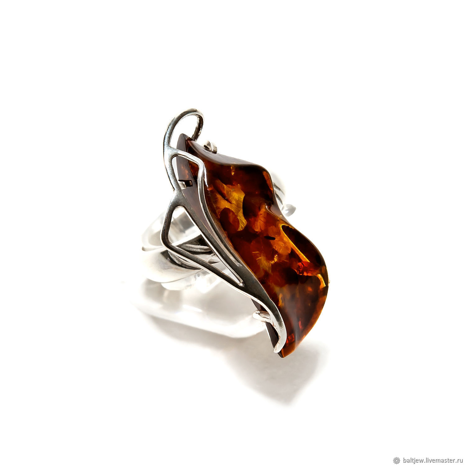 8a203c149 Rings handmade. Amber ring 'Annabelle'. 925 sterling silver, Baltic amber.
